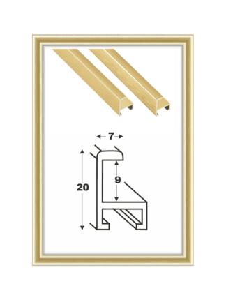 Alurahmen gold individuelle Größe