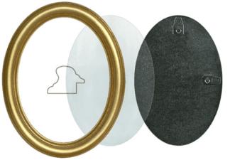Ovaler Rahmen gold