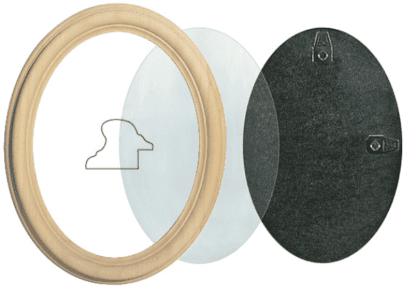 Ovalrahmen Holz günstig