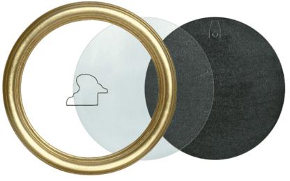 Runder Rahmen gold