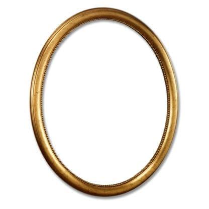 Großer ovaler Spiegelrahmen