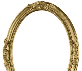 Ovaler Barockrahmen Gold