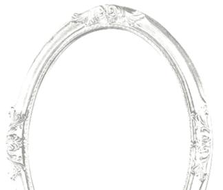 Ovaler Barockrahmen Weiß