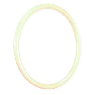 Ovalrahmen roh mit Perlstab
