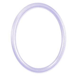 Ovalrahmen silber mit Perlstab