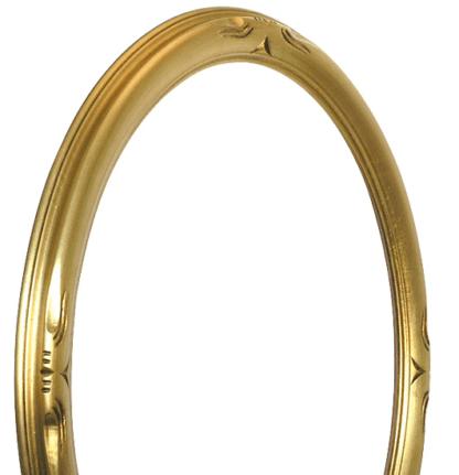 Verzierter Ovalrahmen Gold