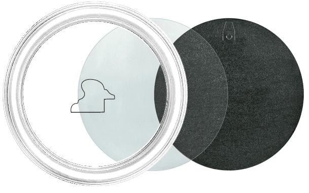 Runder Bilderrahmen in Weiß