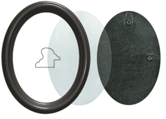 Ovaler Rahmen Schwarz