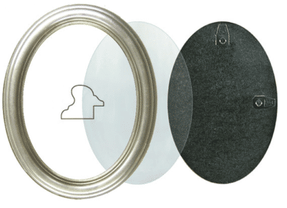 Ovaler Rahmen Silber