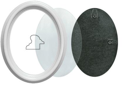 Ovaler Rahmen Weiss