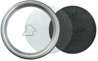 Runder Rahmen Silber
